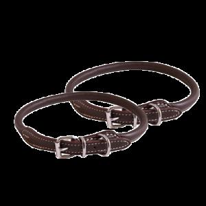 KW Walker Rundsytt Halsband Brun, 0,8x50 cm