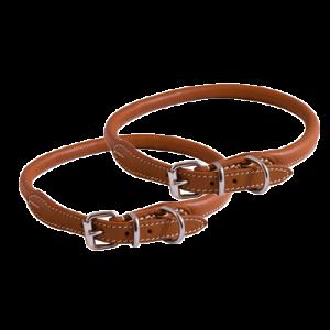 KW Walker Rundsytt Halsband Natur, 1,0x55 cm