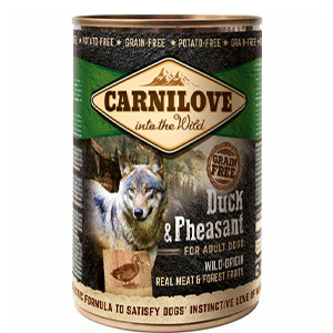Carnilove Dog Vådfoder, And & Fasan, 400g