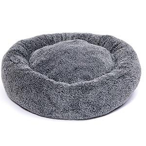 KW Fluffig Donut hundbädd, Ø 60cm, Grå