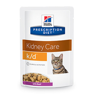 Hills Prescription Diet k/d Feline Kidney Care Beef 12 x 85 gr