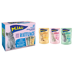 Mjau Multipack Mix Kattunge, Våtfoder katt