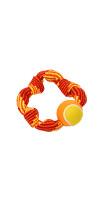 Colour Squeak Rope Circle w/Tennisball, 20 cm