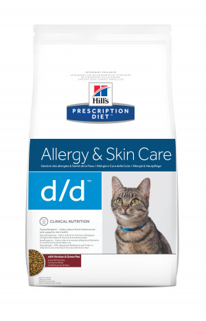 Hill's Prescription Diet Feline d/d Duck & Green Pea, 1,5 kg