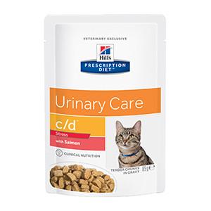Hills PD c/d Feline, Urinary Stress, Salmon, 12x85g