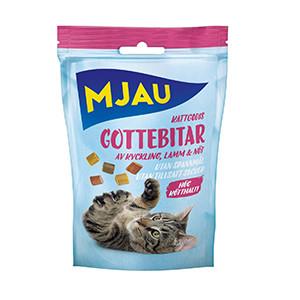 Mjau Kattgodis Gottebitar Mix, 30g