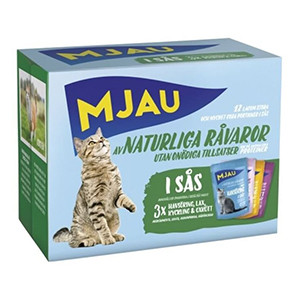 Mjau Multipack Våtfoder Mix, 12x85g
