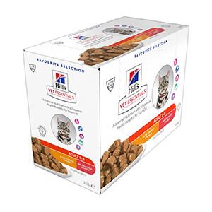 hills Vet essentials Feline Adult Chicken/Salmon 12x85g